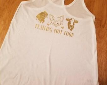 Friends NOT food. Vegetarian shirt.