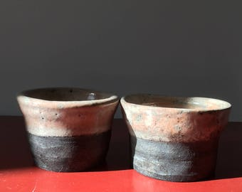 2 small stoneware bowls / handcrafted / handmade / Vintage Kinfolk / pottery