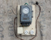 Old table electric switch Saia from the 50s 60s Vintage french industrial decor