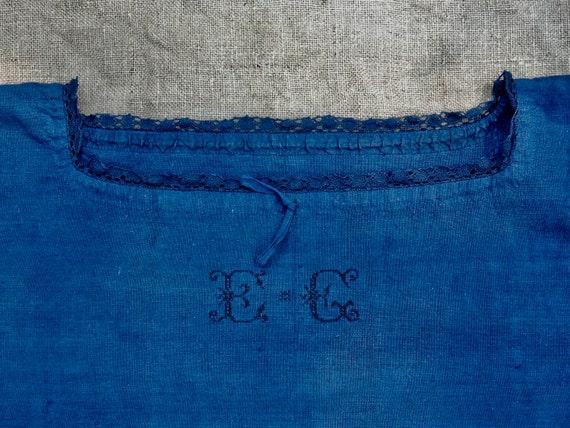 Hemp, dress, indigo-dyed nightgown / Antique Franc