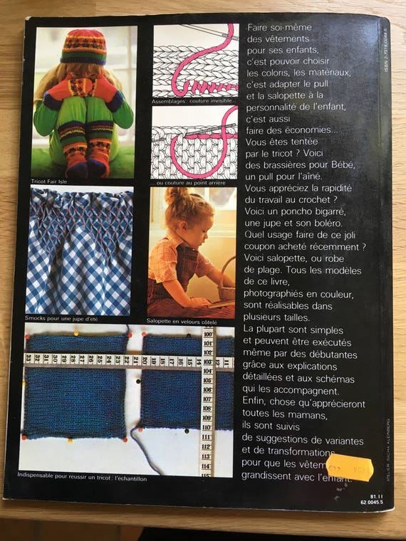 Childrens Clothing Review Couture Knitting Crochet France 1981 Edition Cil Seventies