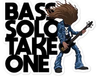 Metallica Cliff Burton Bass Solo Heavy Metal Vinyl Die Cut Decal Sticker