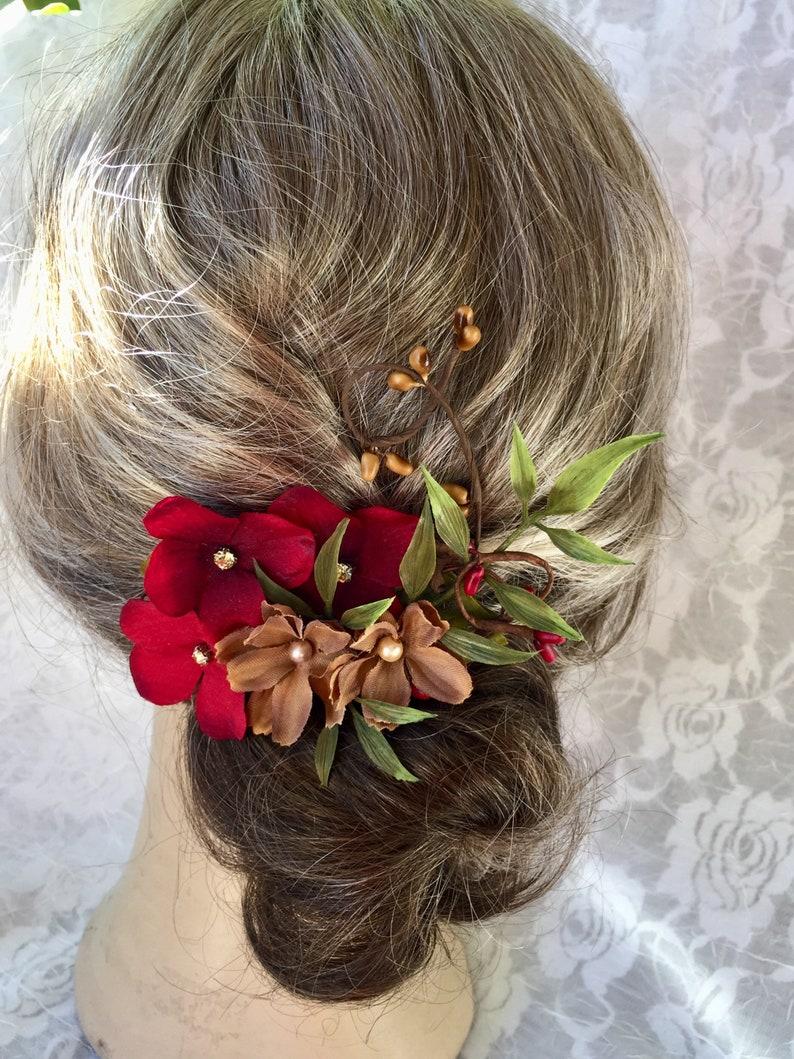 morceau de cheveux brun et rouge rouge bordeaux et marron | etsy
