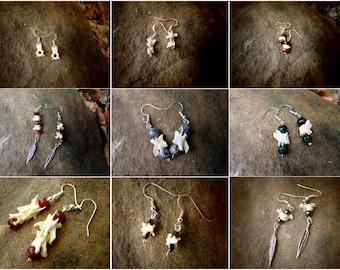 Bone Earrings - Vertebrae Collection