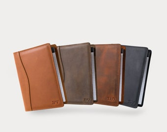 PERSONALIZED Leather Jr Legal Padfolio, Monogrammed Leather Portfolio Cover Custom Corporate Gift Monogram Initials For Him    Eriksen