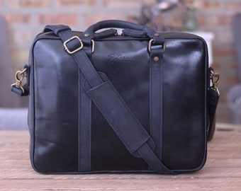 HUGE SALE Leather Laptop Bag Mens Briefcase 13 inch Laptop Bag Brown Leather  Anniversary Gift Birthday Gift for Him   Stephenson - Black d3d49a017b