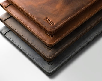 PERSONALIZED Leather Padfolio Monogrammed Leather Portfolio Cover Custom Corporate Gift Monogram Initials For Him  | Marshall