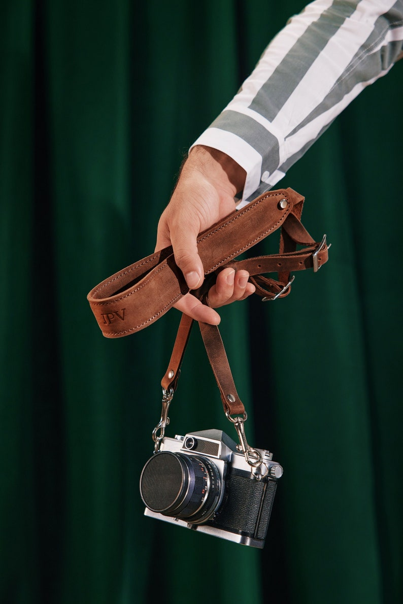 Personalized Pro Leather Camera Straps Custom Distressed image 1