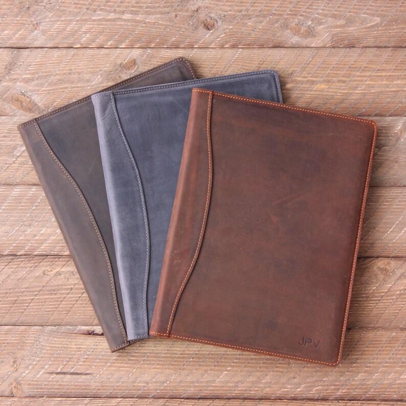 PERSONALIZED Leather Padfolio Monogrammed Leather Portfolio  b10b08cb249b
