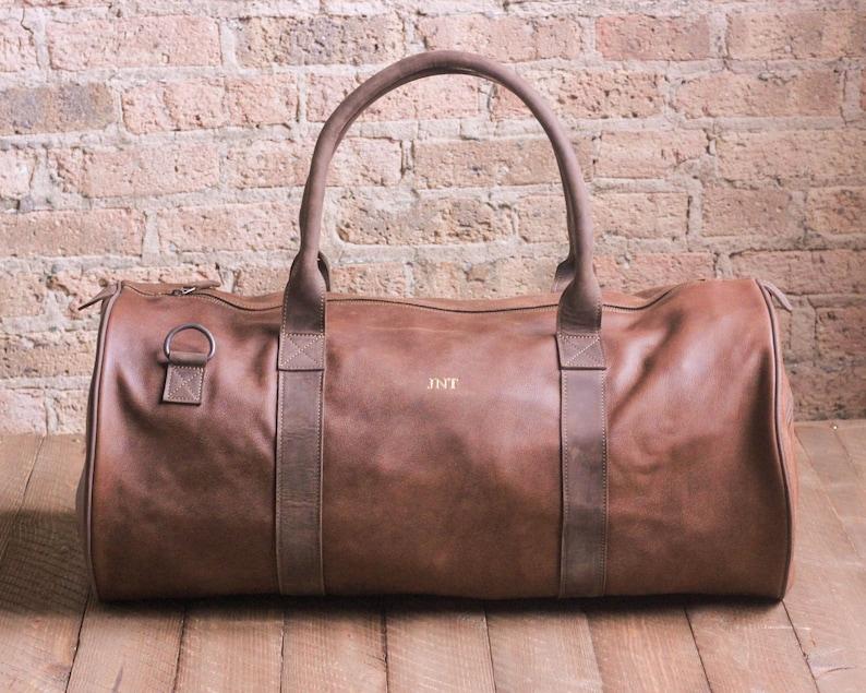 PREMIUM Leather Weekender Mens Weekend Bag Leather Duffel Bag  51c68d5a06cd0