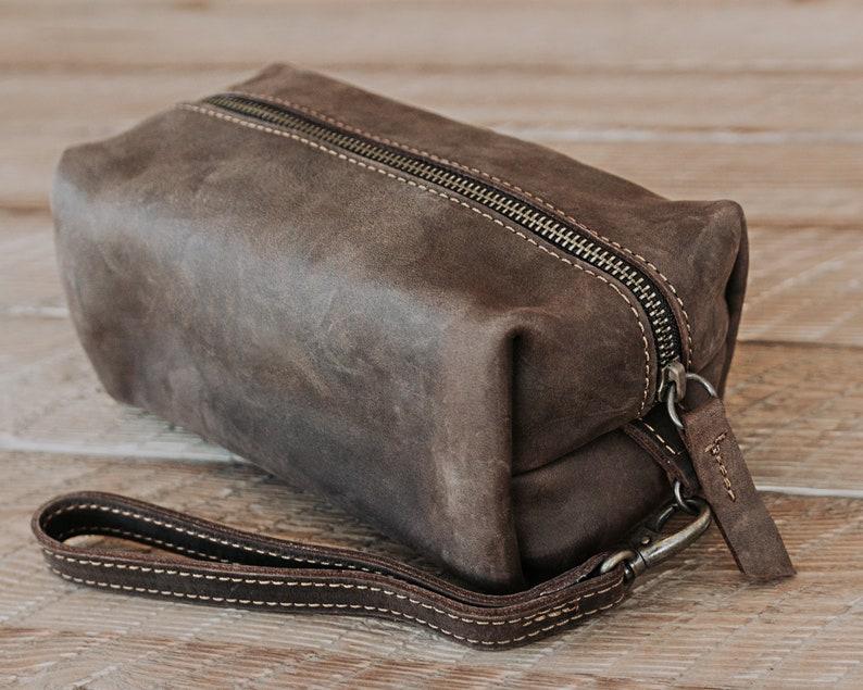 2ec2fcc873 MONOGRAMMED Dopp Kit Mens Leather Dopp Personalized Groomsmen