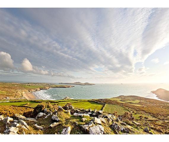 Whitesands Bay travel print Pembrokeshire coast