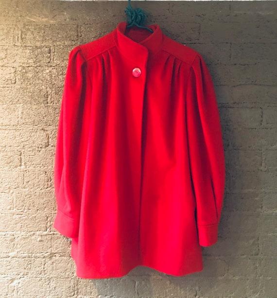 Vintage Red Worumbo Cape Coat