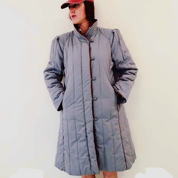 Vintage 80s Ms. Freddi Long Puffer Coat