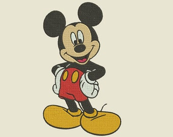 Mickey Mouse Embroidery Design