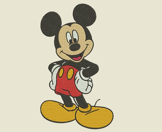 Mickey Mouse Embroidery Design Etsy