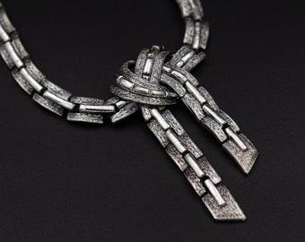 JEWELCRAFT vintage necklace 50s pastel rhinestones choker stunning 80n