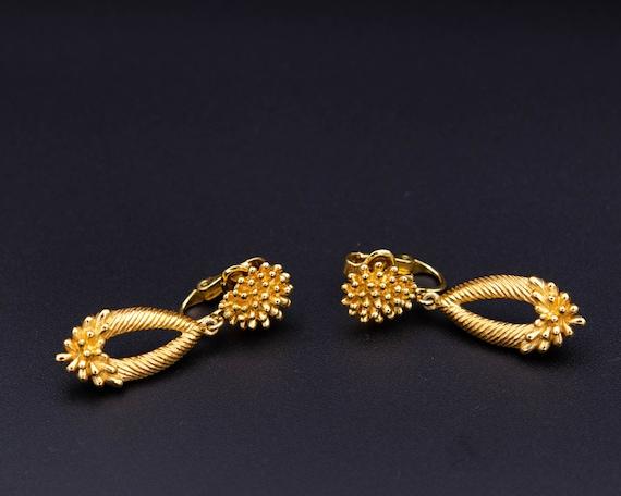 Trifari earrings Non pierced earrings Long teardr… - image 4