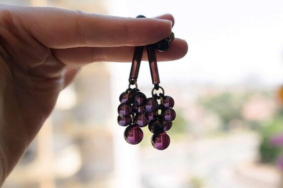 Cluster earrings Dangle grape earrings Bubble earr