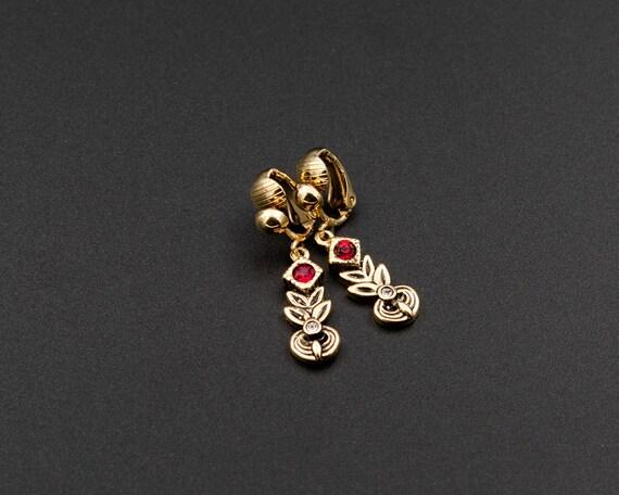 Tiny clip on earrings Xmas earrings Non pierced ea