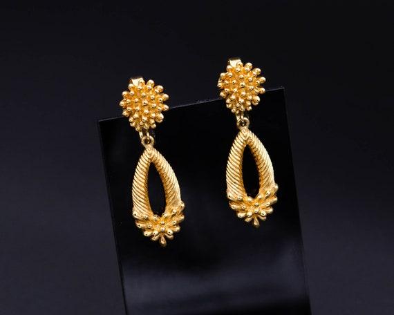 Trifari earrings Non pierced earrings Long teardr… - image 2