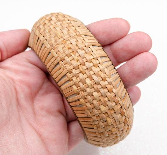 Wide cottagecore bracelet Raffia bracelet Straw b… - image 5
