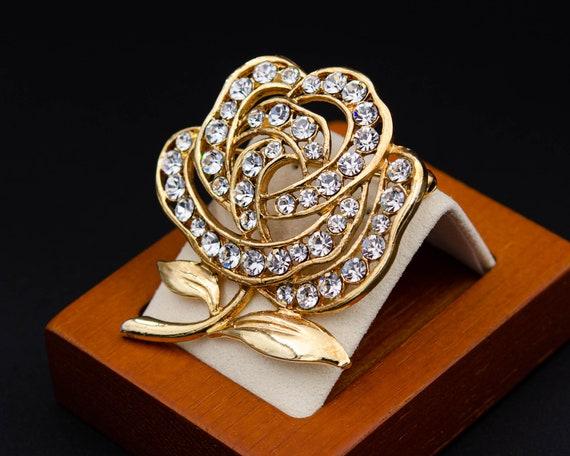 Peony brooch Huge flower brooch Cottagecore gold … - image 7