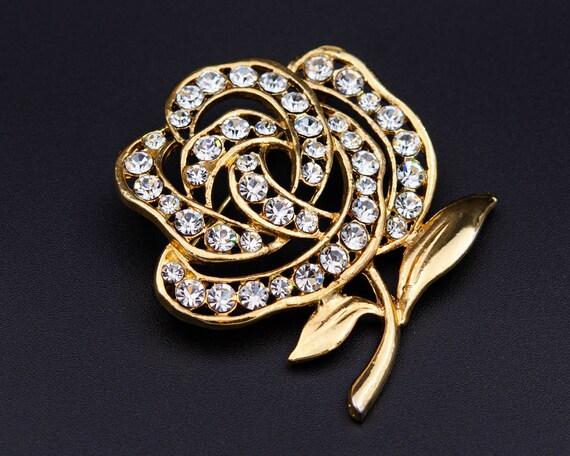 Peony brooch Huge flower brooch Cottagecore gold … - image 10