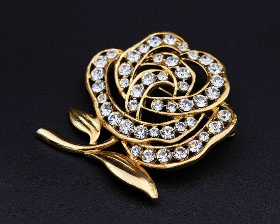 Peony brooch Huge flower brooch Cottagecore gold … - image 9