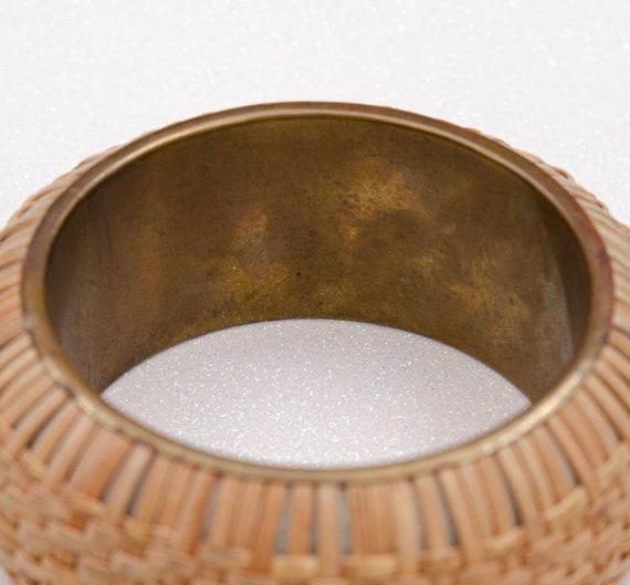 Wide cottagecore bracelet Raffia bracelet Straw b… - image 9
