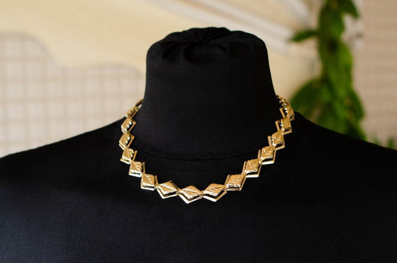 Dainty gold choker Summer necklace Gold layered ch