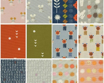Cotton + Steel Sunshine - Alexia Abegg - Chose Your Cut - 12 Prints Unbleached Quilting Cotton - Animal Fabric