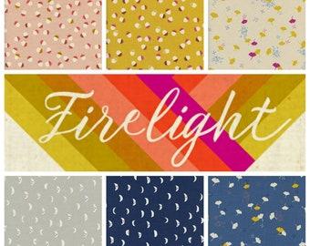 Cotton + Steel Firelight - Fat Quarter Bundle - Fabric Precut Bundle - 14 Unbleached Quilting Cotton
