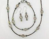 Ionized Crystsl Historical Jewellery Set