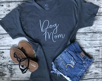 Dog Mom V-Neck T-Shirt