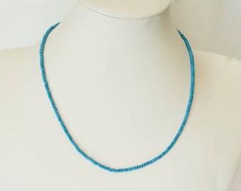 2fb66f0bad8e56 Girocollo unisex in argento con pasta di turchese, collane artigianali  regali per lei e lui, girocolli pietre dure, turchese,