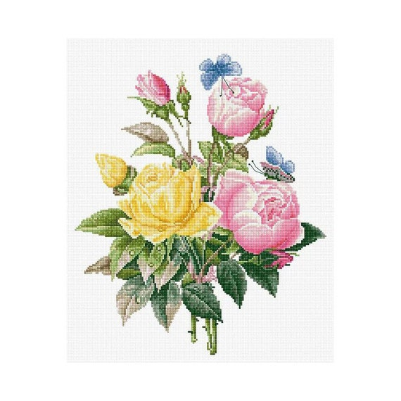 """/""""Tulips/"""" Counted Cross Stitch Kit MAKE YOUR OWN HANDS T-16"""