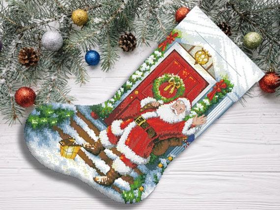 DIY Chart Counted Cross Stitch Patterns Needlework Christmas Old World Santa