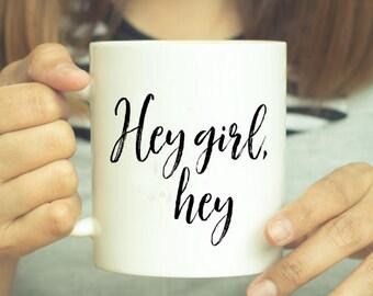 Hey Girl, Coffee Mug, Ryan Gosling, Mug, Coffee Cup, Coffee, Funny Mug, Funny Coffee Mug, Ryan Gosling Mug, Gift, Hey Girl Mug, Custom Mug