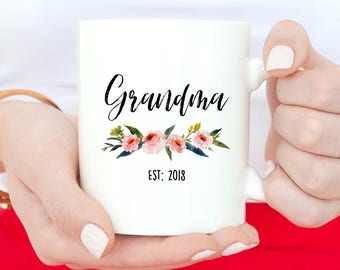 Future Grandma, Grandma Mug, Pregnancy Reveal, Grandma Gift, New Grandma, New Grandma Mug, Promoted To Grandma, Baby Announcement, Mugs