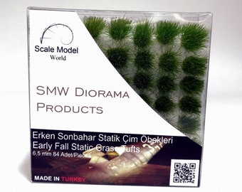 Static Grass Tufts 6,5 - 4,5 - 2 mm