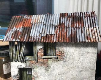 Corrugated Copper Sheets 8 Pieces 7,3X3,4 cm
