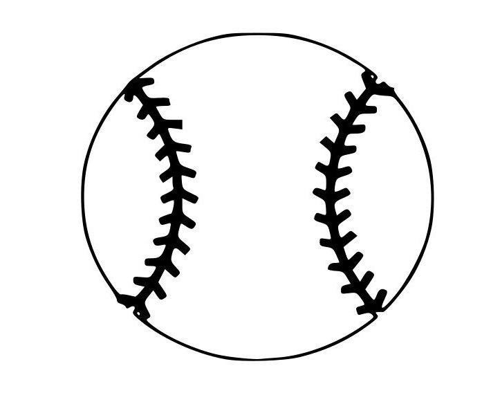 Baseball Outline Laptop Cup Decal Svg Digital Download Etsy