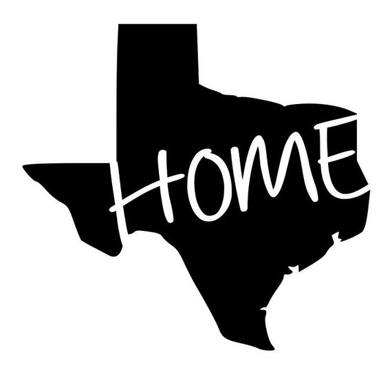 State Of Texas Tx Home Outline Laptop Cup Decal Svg Digital Etsy