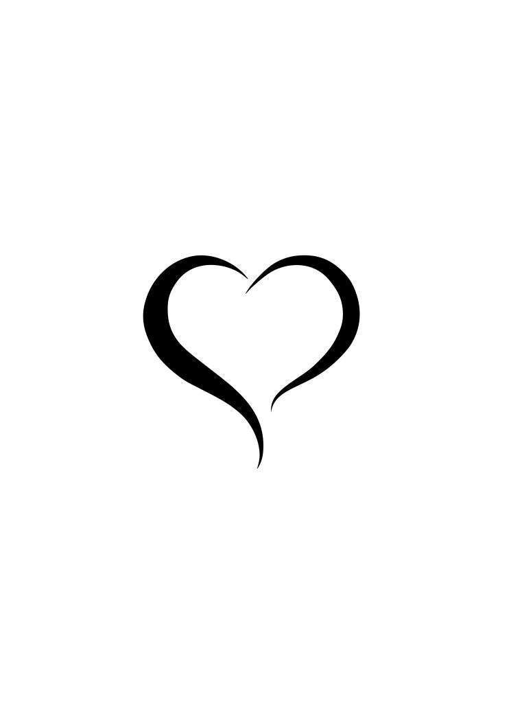 Corazón corazón abierto contorno logotipo portátil Copa la   Etsy