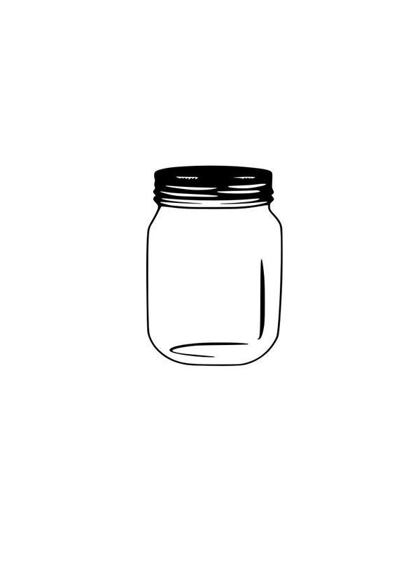Free Lightly tap the jar on the counter to settle. Mason Jar Svg Outline Laptop Cup Decal Svg Digital Download Etsy SVG, PNG, EPS, DXF File