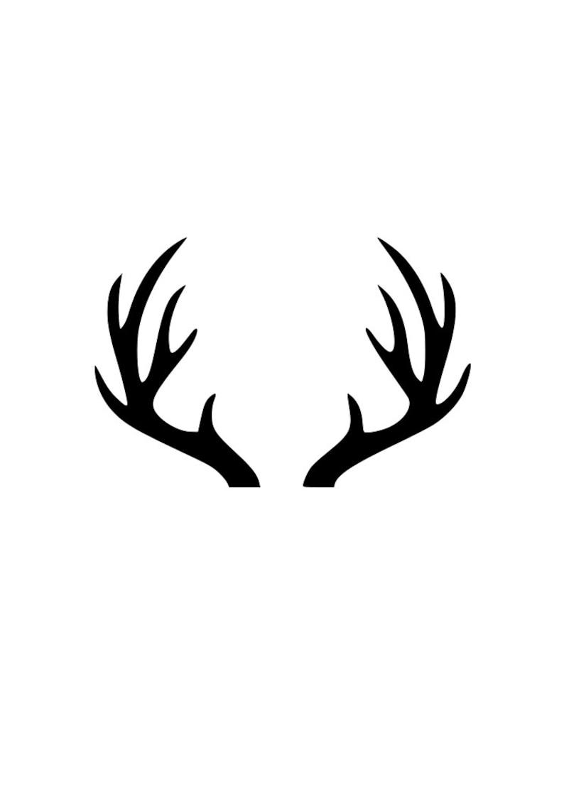 Download Deer antlers outline laptop cup decal SVG Digital Download ...
