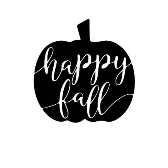 Happy Fall Outline Laptop Cup Decal Svg Digital Download Etsy