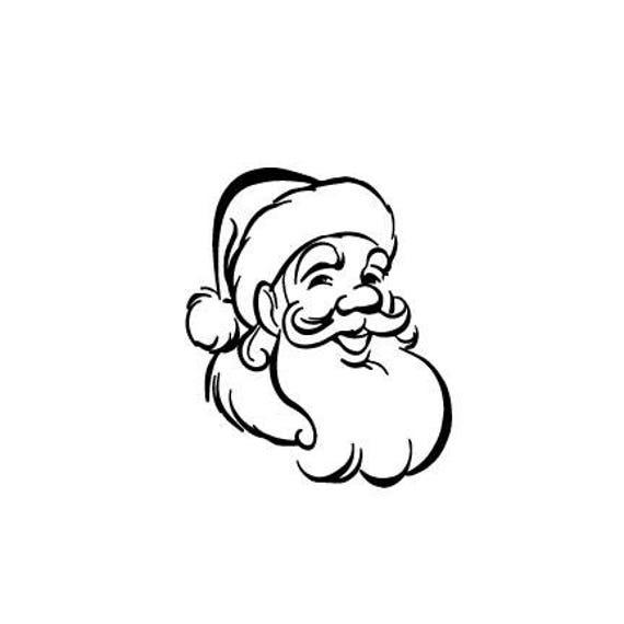 Santa Claus logo outline laptop cup decal SVG Digital Download Cuttable  Files Cricut Silhouette