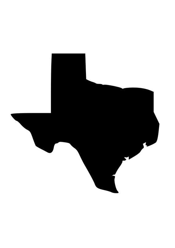 Silhouette Texas State of Texas outline laptop cup decal SVG Digital